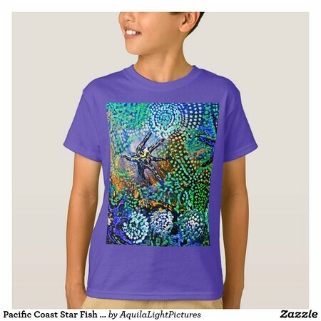 Kids Pacific Ocean Star Fish Designer T shirt by Karen Colville Contemporary Art Design